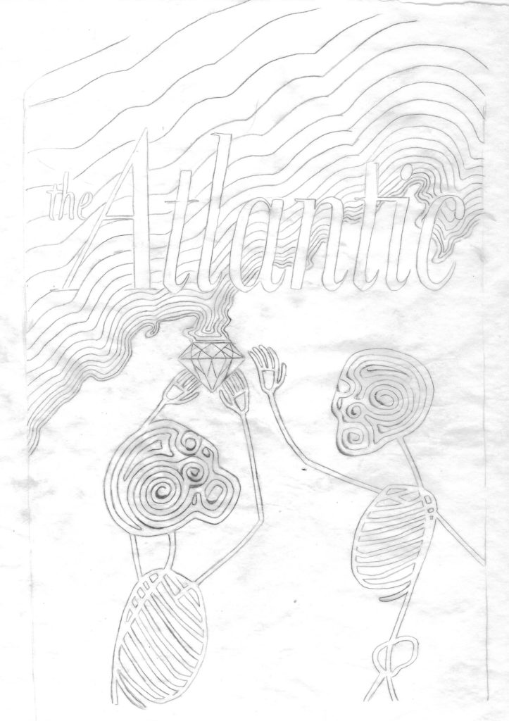 Diamond Mine process work - pen sketch